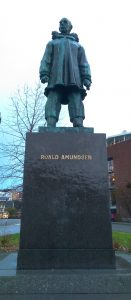 Statue of Roald Amundsen, Norwegian polar explorer and first to reach the South Pole
