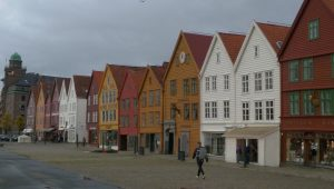 This part of Bergen is a world heritage site