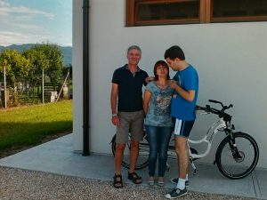 Domenico, Lorena and Simone at Godega di Sant' Urbano