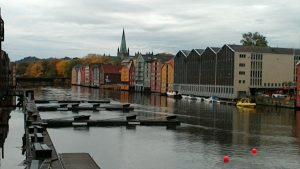 Historic waterfront in Trondheim